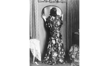 Actress Grete Jacobson in a dress from the Wiener Werkstätte (detail), 1917 U
