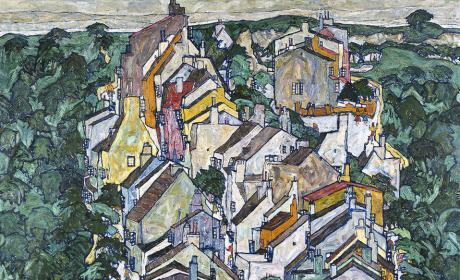 Town among Greenery (The Old City III) (detail), 1917