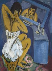 The Toilette (Woman before the Mirror)